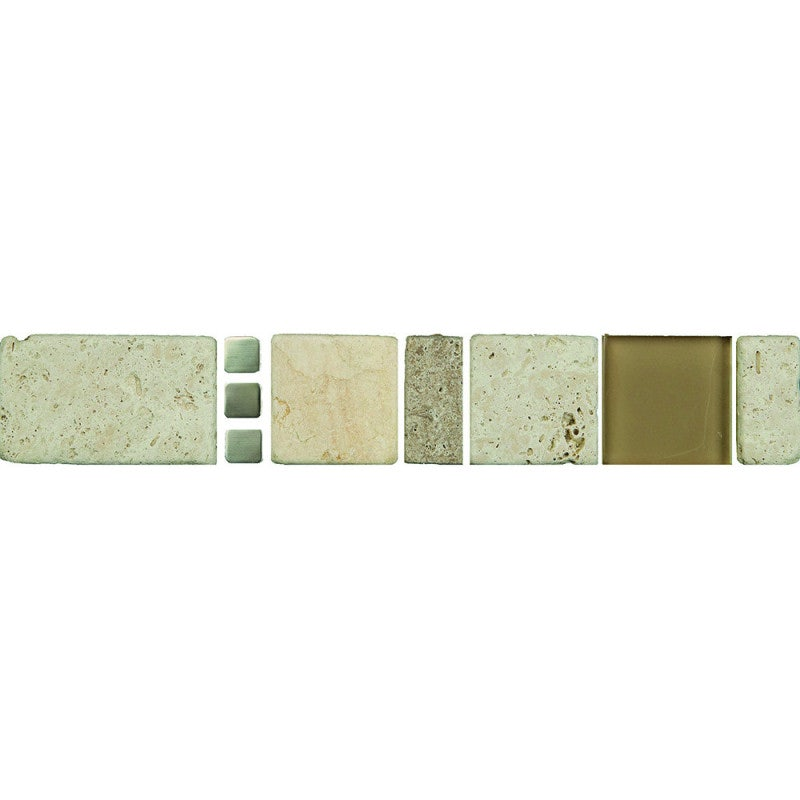Johnson Tiles Borders Tamara Stone Glass Wall Tile