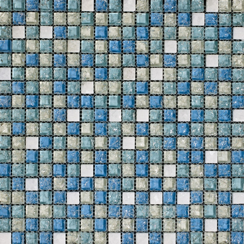 Johnson Tiles Jewelstone Topaz Gloss Glass and Natural Stone Wall Tile