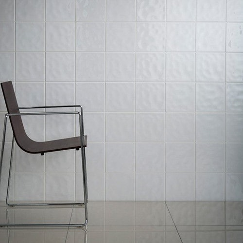Johnson Tiles Polar White Bumpy Gloss Glazed Ceramic Wall Tile