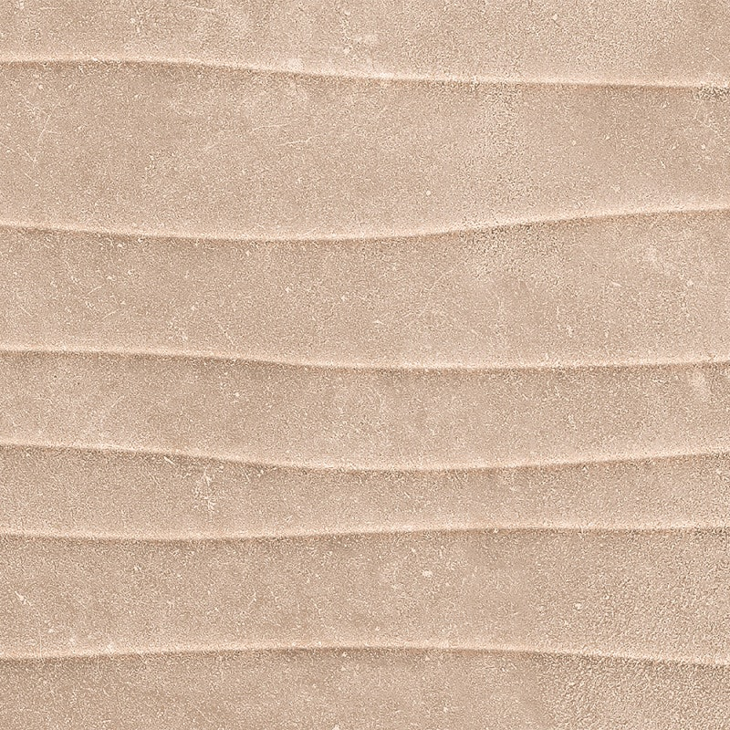 Johnson Tiles County Rustic Taupe Wave Matte Glazed Ceramic Wall Tile