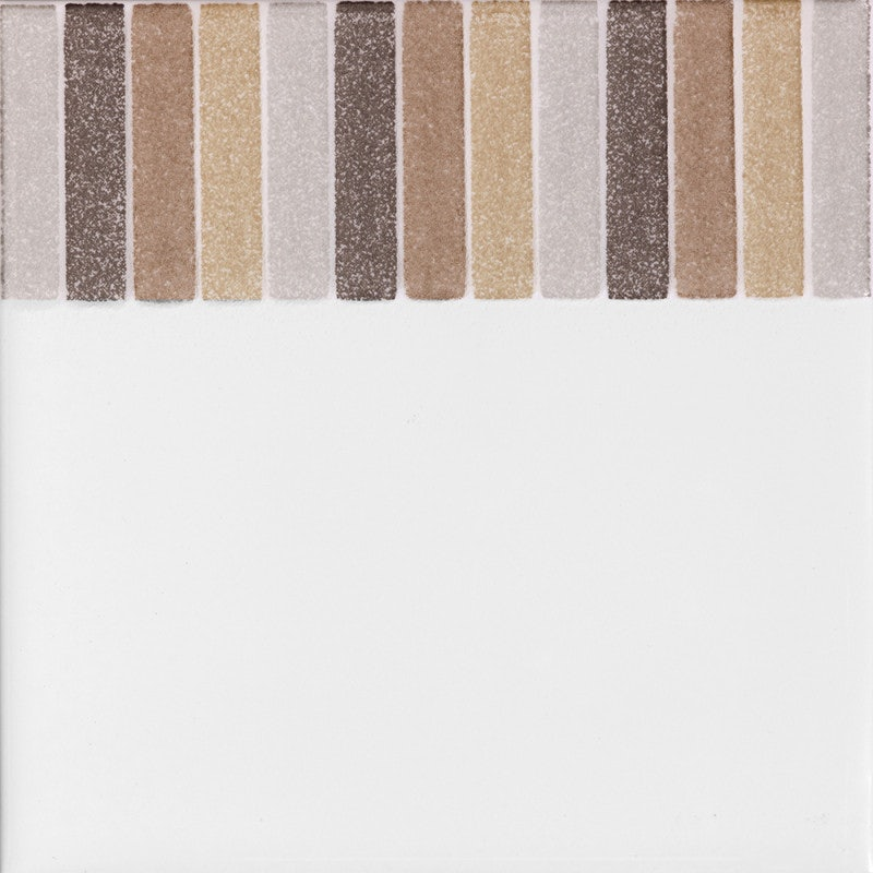 Johnson Tiles Cristal Beige Stripe Gloss Glazed Ceramic Border Tile