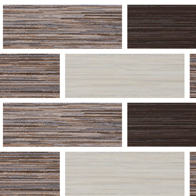 Johnson Tiles Grain Mixed Wood Interlocking Matte Glazed Ceramic Border Tile