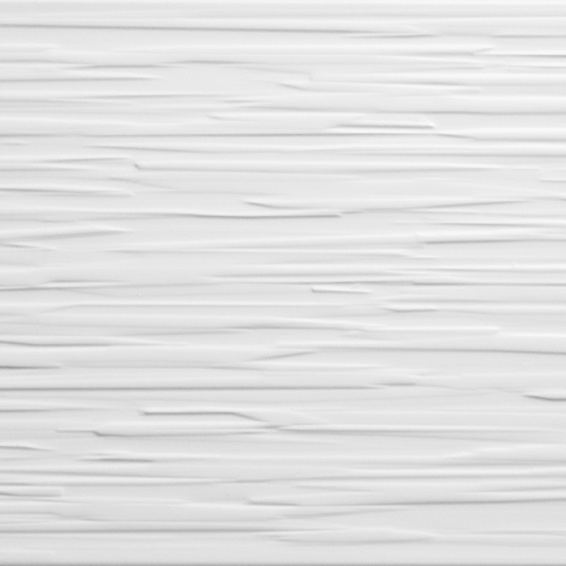Johnson Tiles Polar White Linear Satin Glazed Ceramic Wall Tile