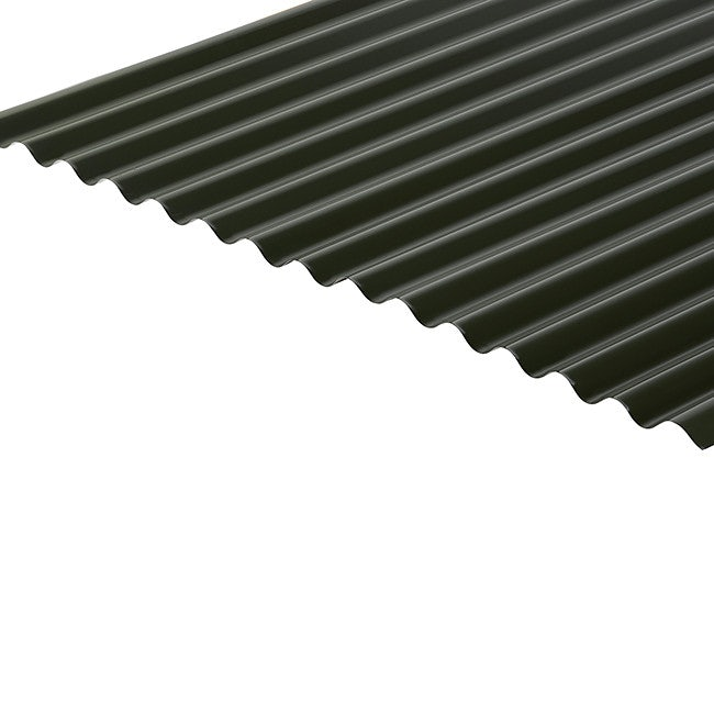 Cladco Corrugated 13/3 Profile 0.5mm Polyester Painted Coated Sheet - Juniper Green RAL6007
