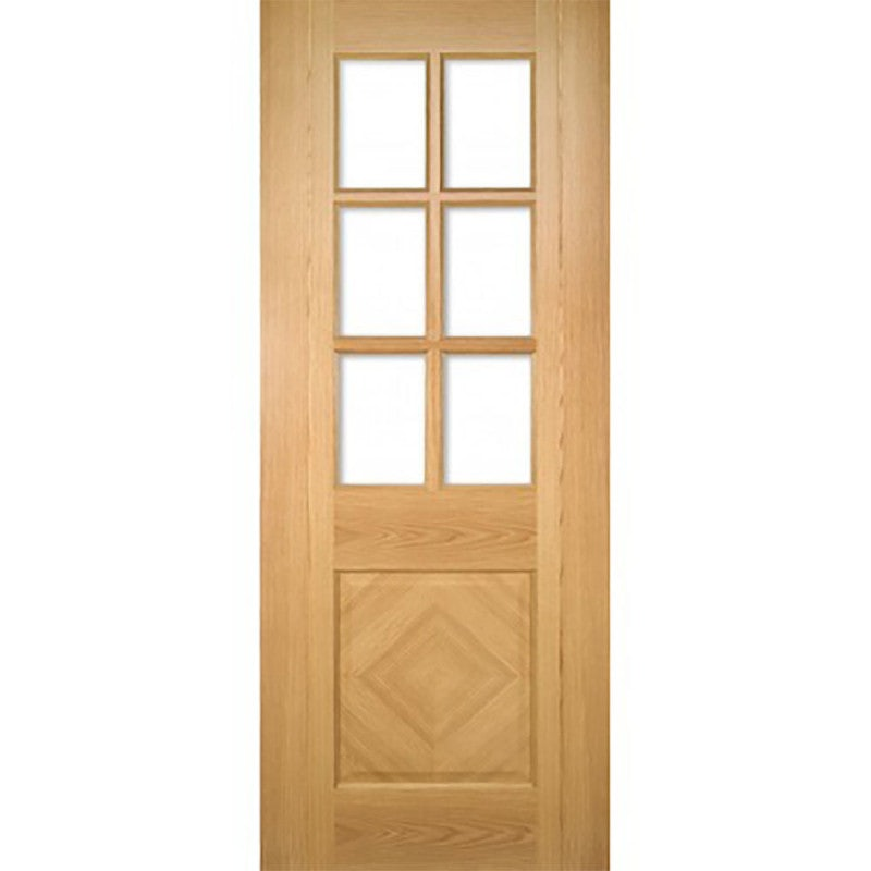 Deanta Internal Oak Kensington Glazed Door