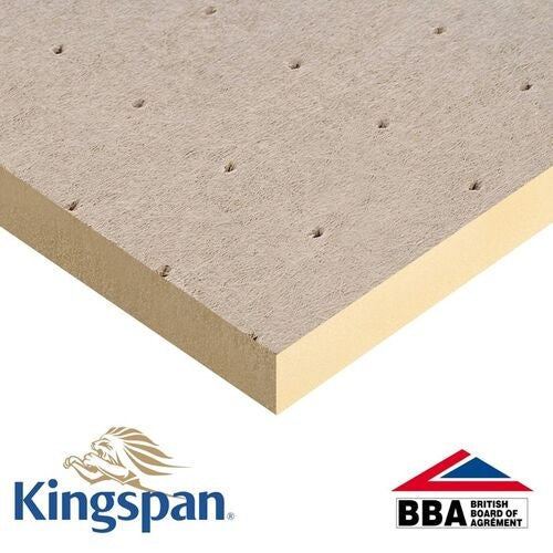 Kingspan 80mm Thermaroof TR26 Flat Roof Insulation - 1200mm x 1200mm x 80mm (4 sheets)