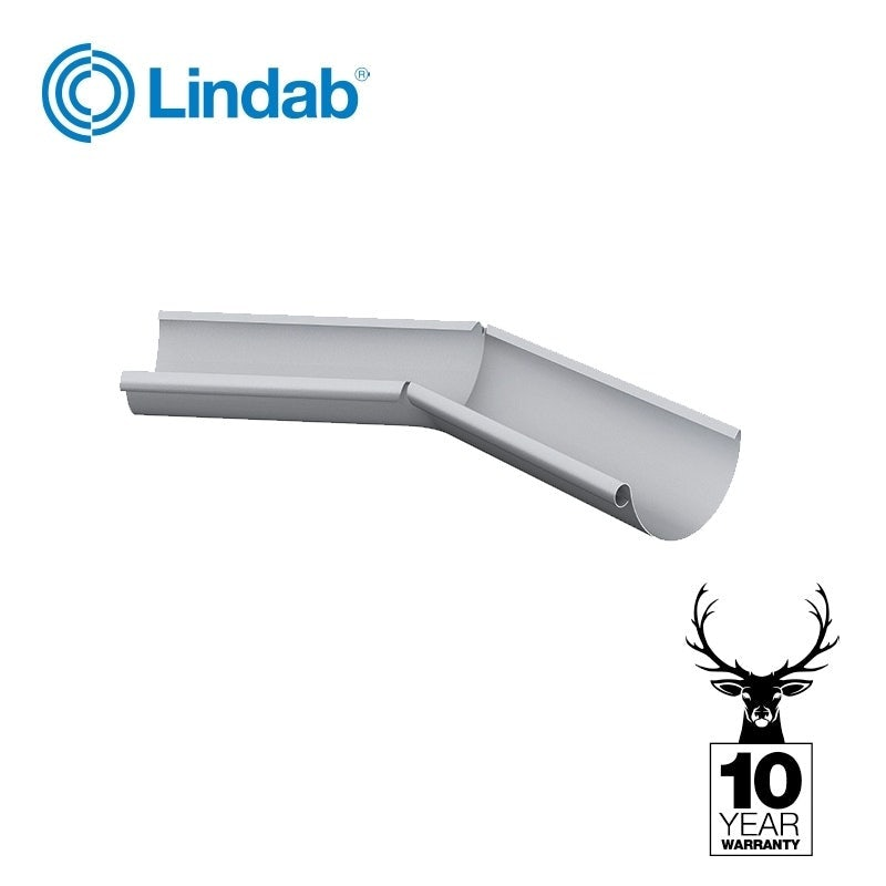 Steel Gutter Half Round 135dg Internal Angle 125mm - Lindab Magestic