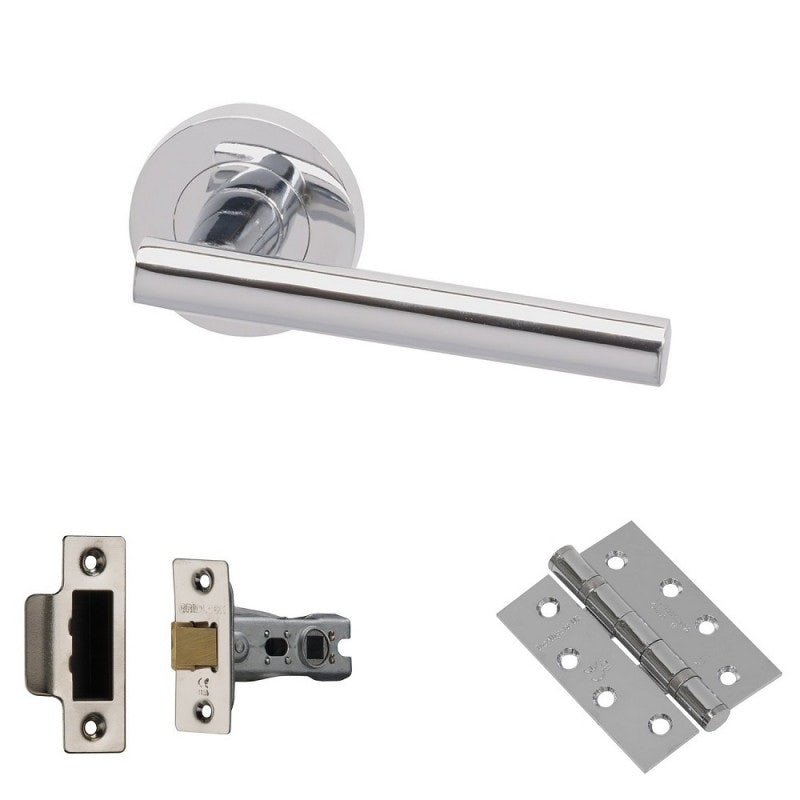 XL Joinery Loire Polished Chrome Fire Door Handle Pack