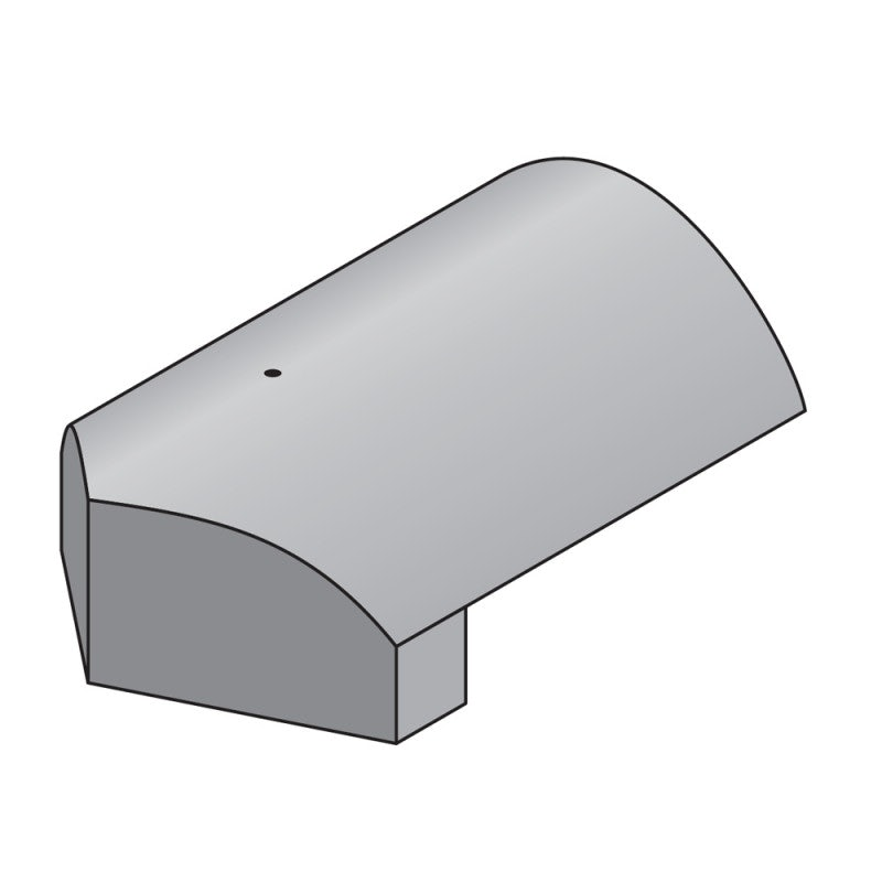 Marley Concrete Modern Stop End Hip