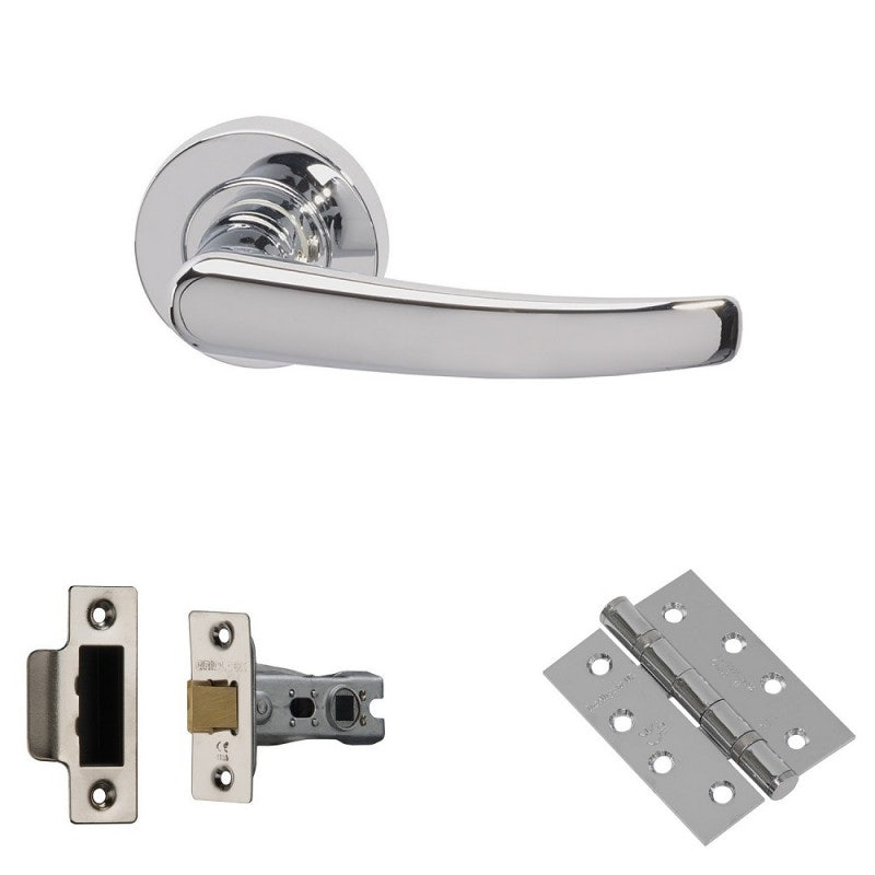 XL Joinery Morava Polished Chrome Fire Door Handle Pack