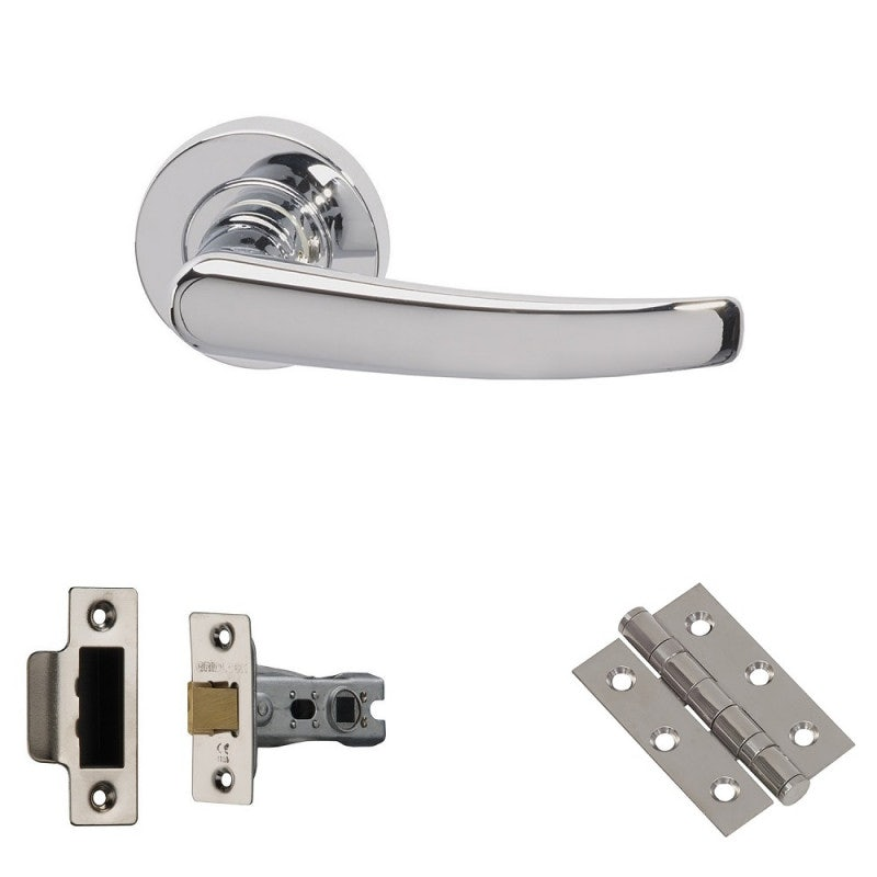 XL Joinery Morava Polished Chrome Latch Door Handle Pack