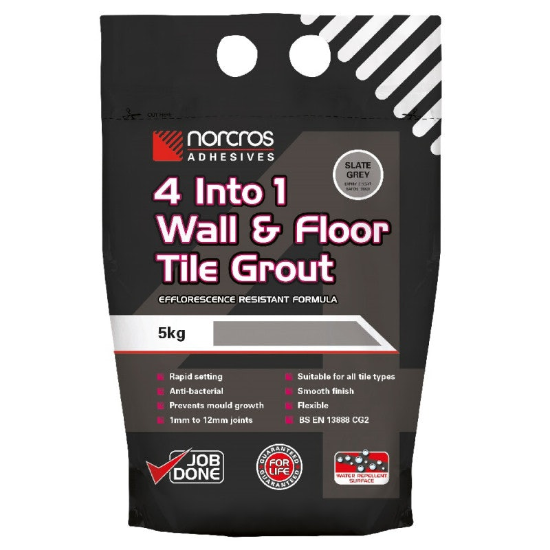 Norcros Adhesives 4 Into 1 Wall & Floor Golden Jasmine Tile Grout - 5KG