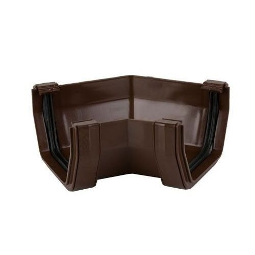Plastic Guttering Square Style 135 Degree Angle 114mm - Brown
