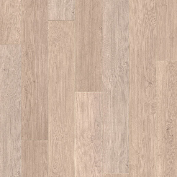 Quick-Step Elite Oak Laminate Plank Flooring Light Grey Varnished