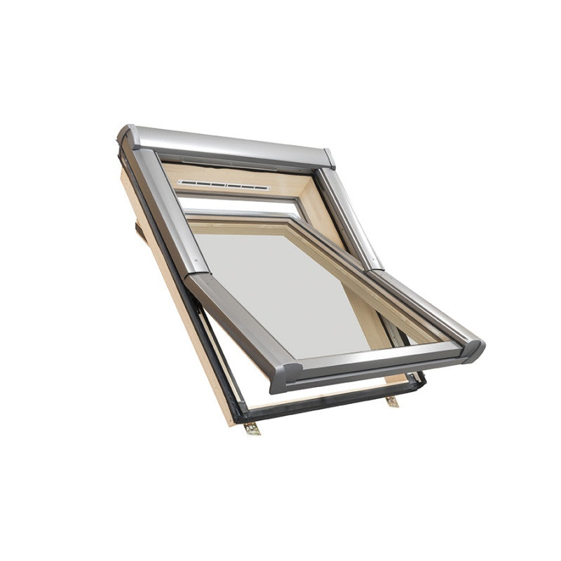 Easy-trim Roto ETR4 Double Glazed Centre Pivot Timber Roof Window