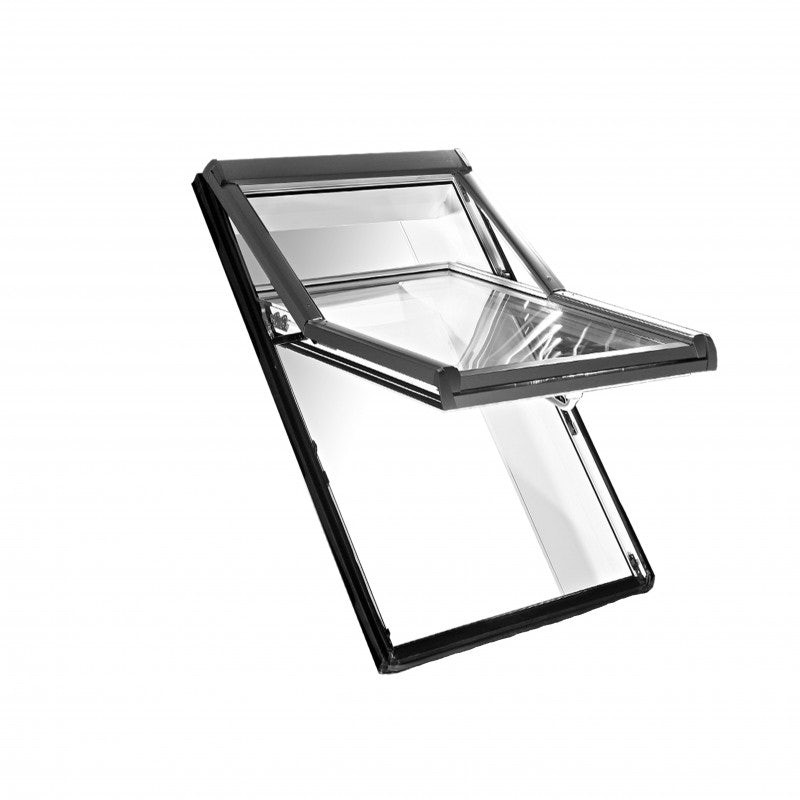 Easy-trim Roto ETR7 Double Glazed Top-Third Pivot PVC Roof Window