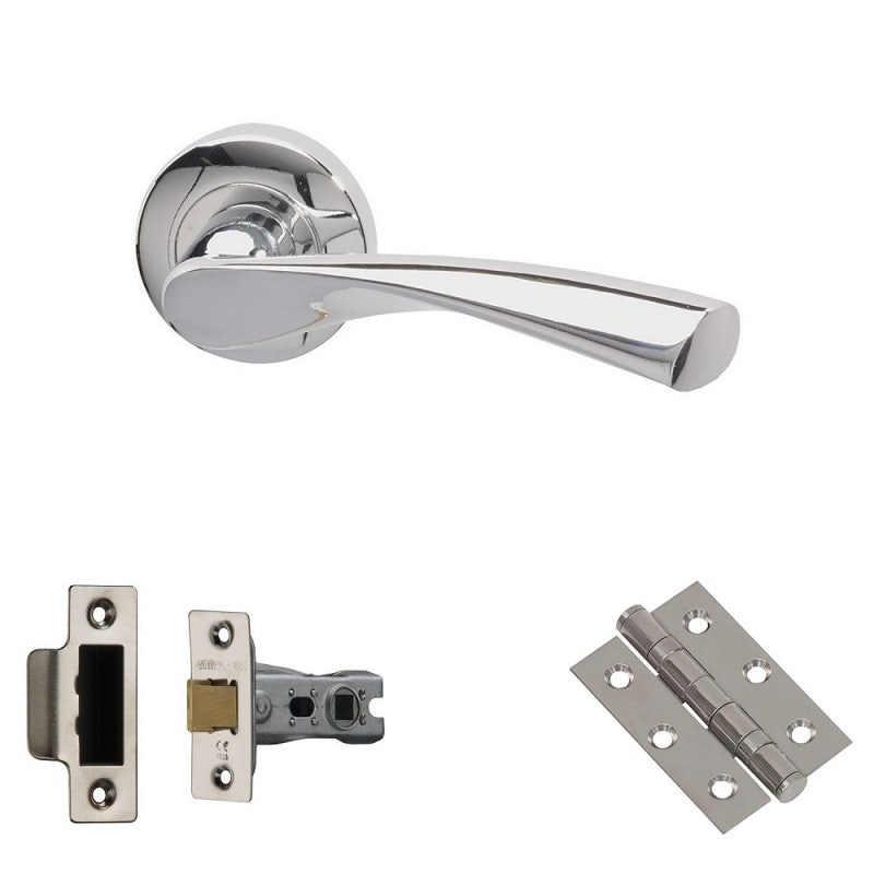 XL Joinery Rhine Polished Chrome Latch Door Handle Pack