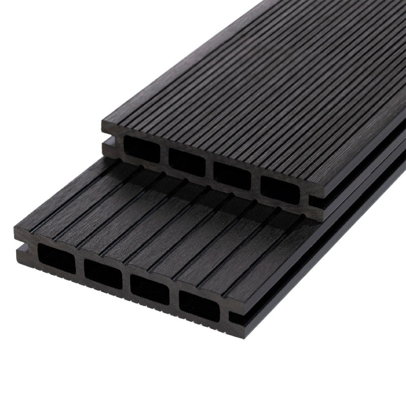 RynoTerraceDeck Classic Reversible Grooves Charcoal Decking Board