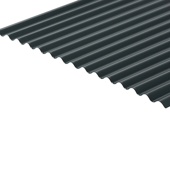 Cladco Corrugated 13/3 Profile 0.5mm Polyester Painted Coated Sheet - Slate Blue BS18B29