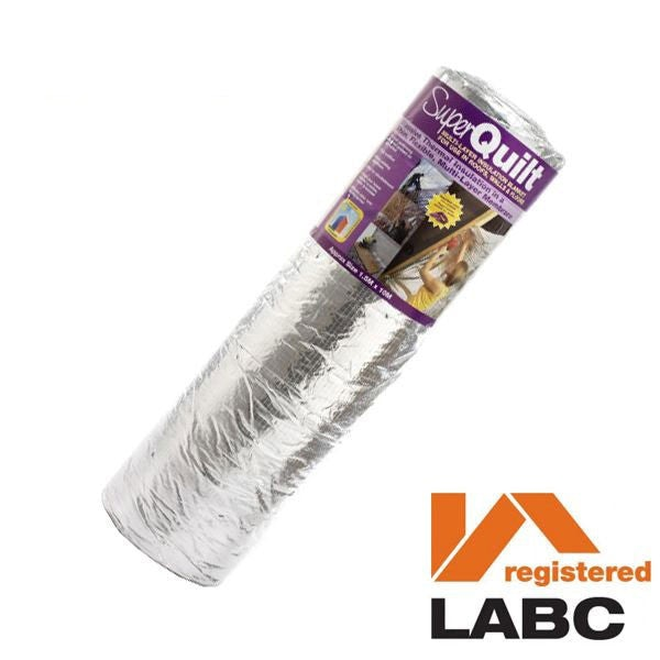Multi-layer Thermal Foil Roofing Insulation YBS SuperQuilt - 1.5m x 10m Roll