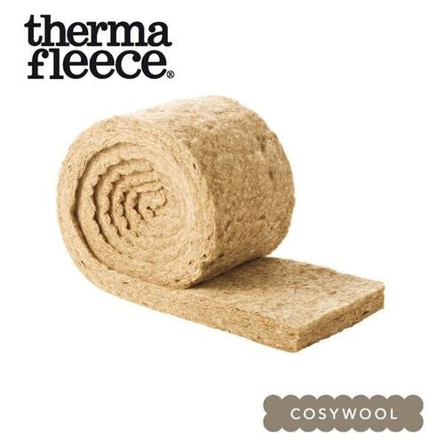 Sheeps Wool Insulation CosyWool by Thermafleece 75mm x 570mm - 9.69m2