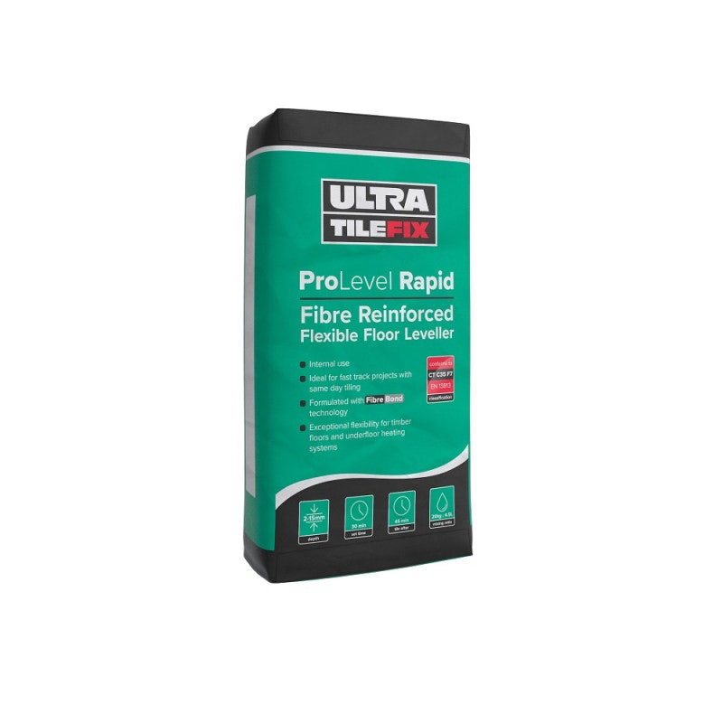 UltraTileFix ProLevel Rapid Fibre Reinforced Flexible Floor Leveller - 20KG