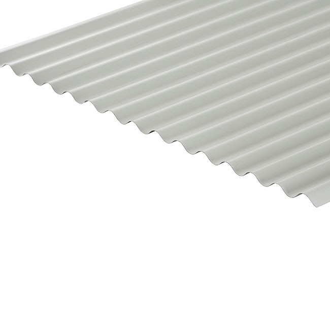 Cladco Corrugated 13/3 Profile 0.5mm Polyester Painted Coated Roof Sheet - White BS00E55