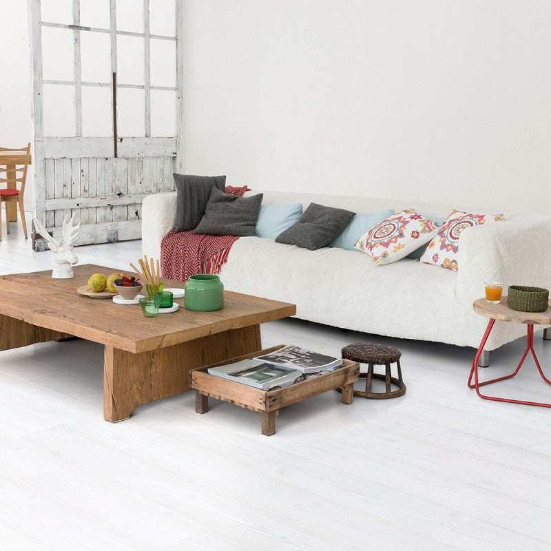 Quick-Step Impressive Ultra Pine Laminate Flooring White Planks