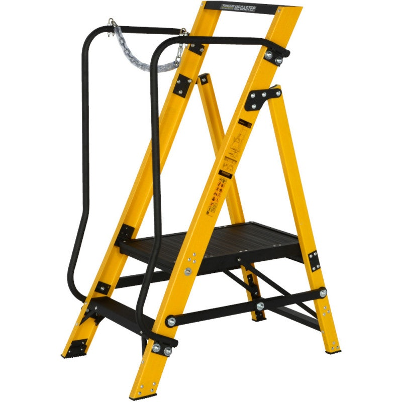 Youngman 2 Tread Megastep Ladder with Handrails - EN 131