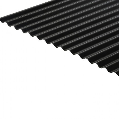 Cladco Corrugated 13/3 Profile 0.7mm PVC Plastisol Coated Roof Sheet - Anthracite RAL7016