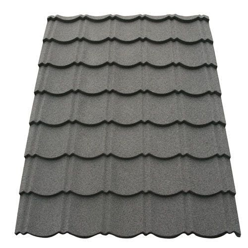 Corotile Lightweight Metal Roofing Sheet - Charcoal (1140mm x 860mm)