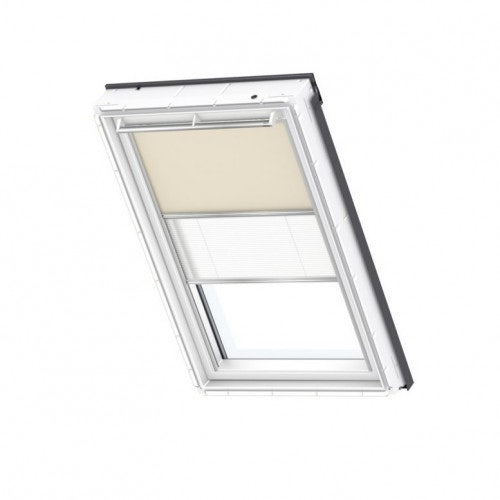 VELUX Duo Blackout Blind in Beige/White