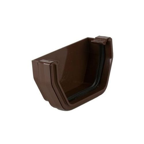 Plastic Guttering Square Style 90 Degree Angle 114mm - Brown