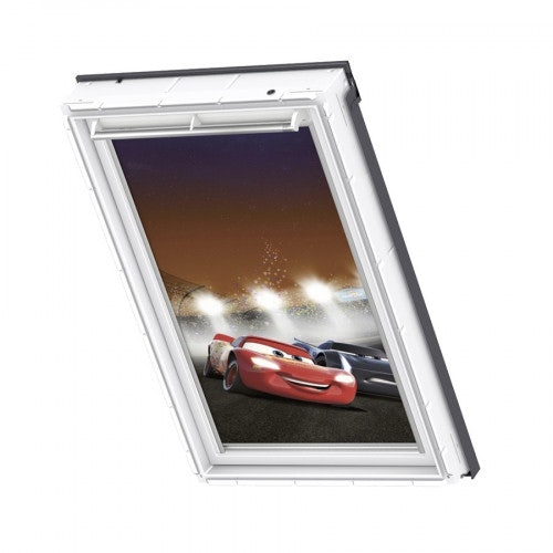 VELUX & Disney Manual Blackout Blind in Cars Racetrack