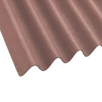 Coroline Corrugated Bitumen Brown Roof Sheets 2m x 950mm (855mm Cover)