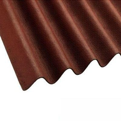 Coroline Corrugated Bitumen Red Roof Sheets 2m x 950mm (855mm Cover)