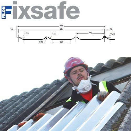 Fixsafe Doublesix Industrial Roofing Sheet Pack Translucent - 1830mm