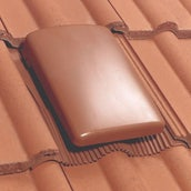 Klober Universal Tile Vent with Cap (15000mm2) - Terracotta