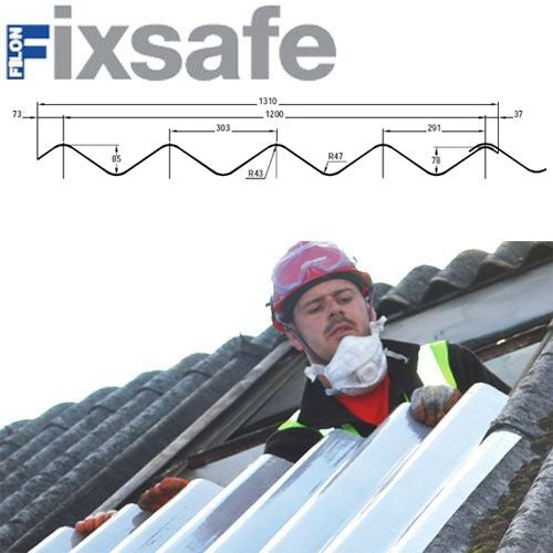 Fixsafe Doublesix M Industrial Roofing Sheet Pack Translucent - 2135mm