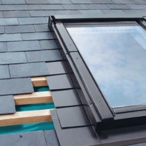 ELV/03 Fakro Single Flashing For Slate Up To 8mm Thick - 66cm x 98cm