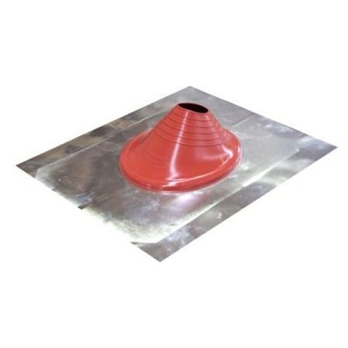 Pipe Flashing 100mm to 225mm Aluminium Base & Silicone Cone - Red