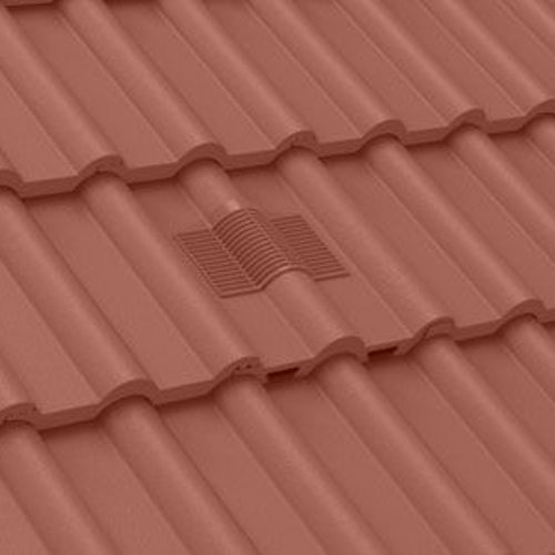 Manthorpe Double Roman In-line Roof Tile Vent - Antique Red