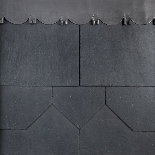 500mm x 250mm Duquesa Q100 1st Quality Spanish Natural Slate - Grey