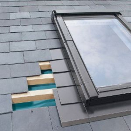 FAKRO ELV-B3/2/05 6 Block Horizontal Combination Flashing For Up To 10mm Slate Roof - 78cm x 98cm