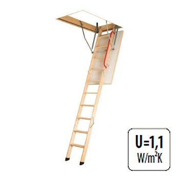Video of Fakro Komfort 3 Section Wooden Loft Ladder 2.8m Length - 70cm x 140cm