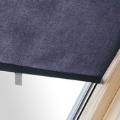 Universal Roller Blind For Roof Windows - 55cm x 98cm - Dark Blue