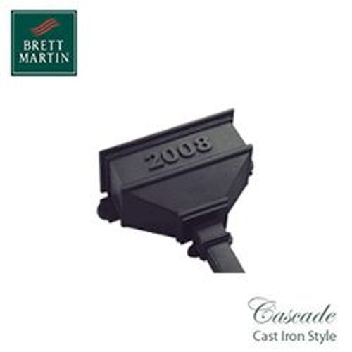 Cascade Cast Iron Style 65mm & 68mm Small Hopper Dated (Black)