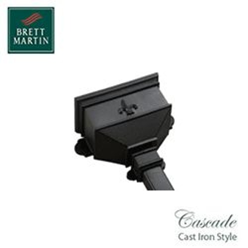 Cascade Cast Iron Style 65mm & 68mm Small Hopper Fleur De Lys (Black)