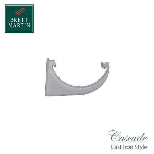 Cascade Cast Iron Style 112mm Roundstyle Fascia Bracket - White