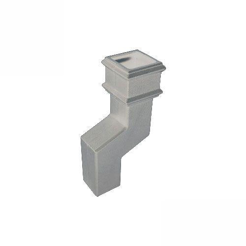 Cascade Cast Iron Style Square Downpipe 115mm Offset Bend - White